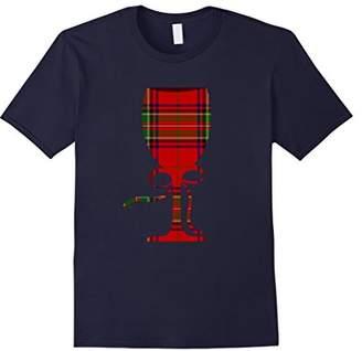 Christmas Wine Glass Scottish Plaid T-shirt Wine Lover