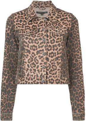 Veronica Beard leopard print denim jacket