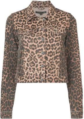 Veronica Beard leopard print denim jacket