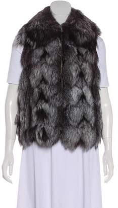Fur Zip-Up Fox Vest