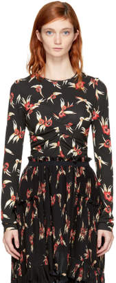 Isabel Marant Black and Red Floral Domino T-Shirt