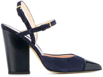Thom Browne High-Block D'orsay Slingback Heel In Leather