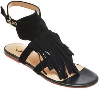 C. Wonder Suede Sandals with Fringe - Jessa