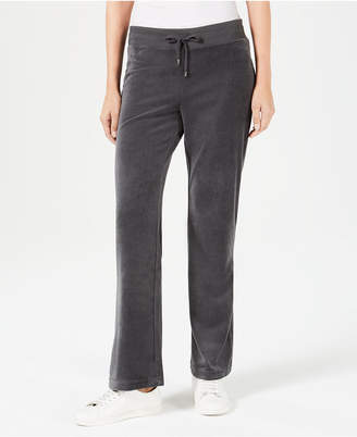 Charter Club Velour Pull-On Pants