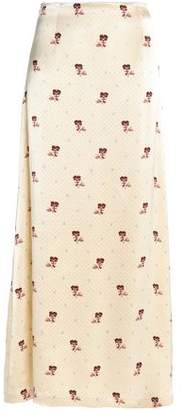Ganni Satin-Crepe Maxi Skirt