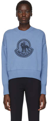 Moncler Blue Knit Maglione Sweater