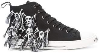 Haculla Skull hi-top sneakers