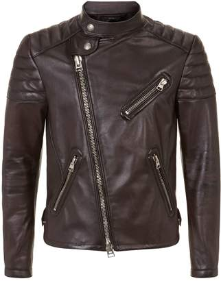 Tom Ford Leather Asymmetric Icon Biker Jacket