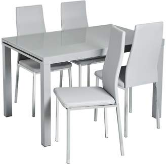 e341a0f69a Argos Home Anton Extendable Glass Table & 4 Chairs