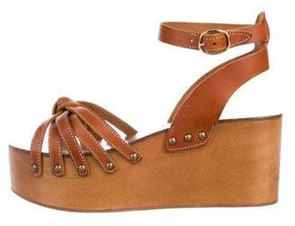 Etoile Isabel Marant Leather Flatform Sandals