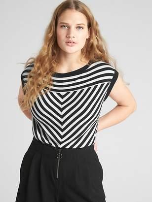 Gap Softspun Stripe Short Sleeve Boatneck Top