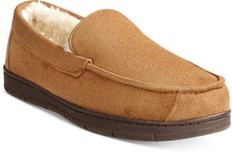 Club Room Men's Faux Suede Slippers, Only at Macy's $45 thestylecure.com