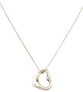 Tiffany & Co. Open Heart Diamond Pendant Necklace $295 thestylecure.com
