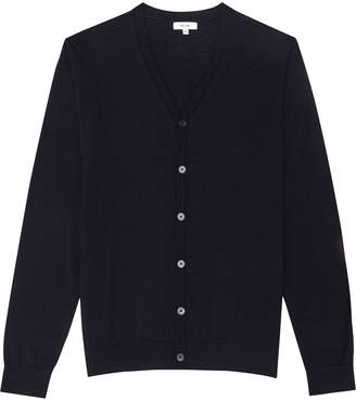 Reiss Hampstead - Merino Wool Cardigan in Navy