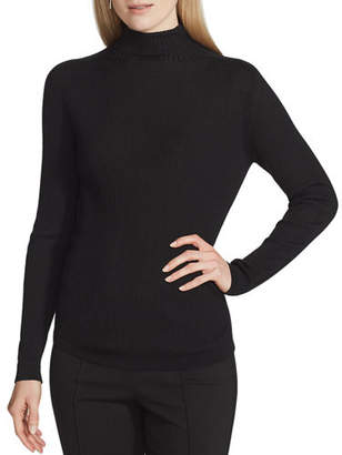 Lafayette 148 New York Fine Gauge Wool Ribbed Turtleneck Sweater
