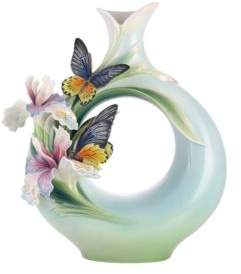 Franz Collection Birdwing Butterfly Vase, Limited Edition