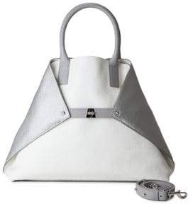 Akris Ai Medium Convertible Leather Tote