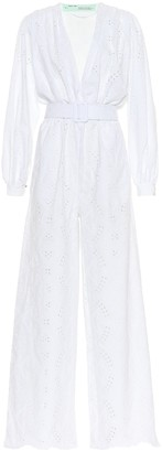 Off-White Off White Embroidered cotton jumpsuit
