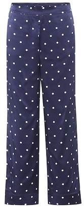 Asceno Polka-dot silk pyjama bottoms