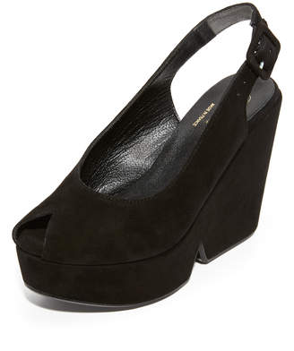 Robert Clergerie Peep Toe Wedge Sandals $595 thestylecure.com