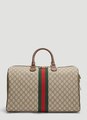 Gucci Ophidia GG Medium Carry-On Duffle Bag in Beige
