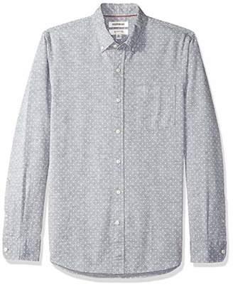 Goodthreads Men's Slim-Fit Long-Sleeve Polka Dot Homespun Chambray Shirt