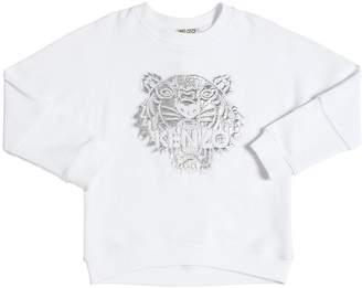 Kenzo Metallic Tiger Embroidered Sweatshirt