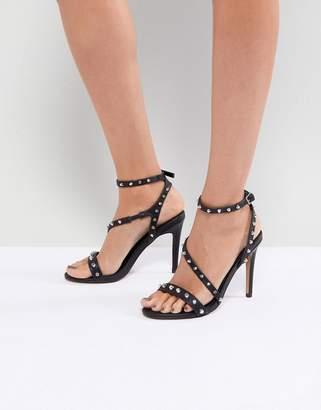 Asos Design HACKER Studded Heeled Sandals