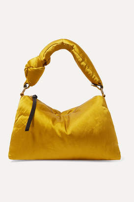 Dries Van Noten Padded Satin Tote - Mustard