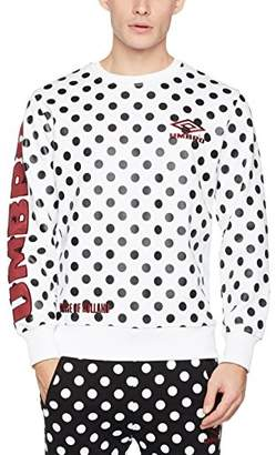 House of Holland Men's Umbro Polka Dot Side Rib Sweatshirt,Medium