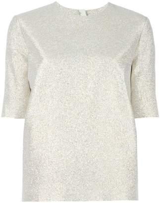Lanvin glitter short sleeved top