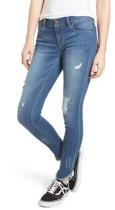 1822 Denim Raw Edge Skinny Jeans (Leslie)