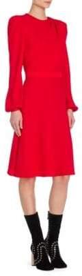 Alexander McQueen Scarf Drape Long-Sleeve Dress