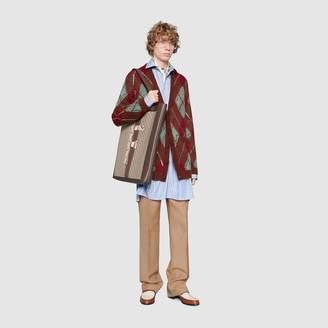 Gucci Oversize argyle cardigan