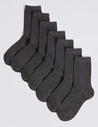 Marks and Spencer 7 Pairs of Ankle School Socks (3-16 Years)