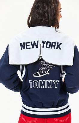 Tommy Jeans Varsity Hooded Bomber Jacket
