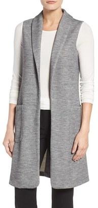 Women's Halogen Long Knit Vest $89 thestylecure.com