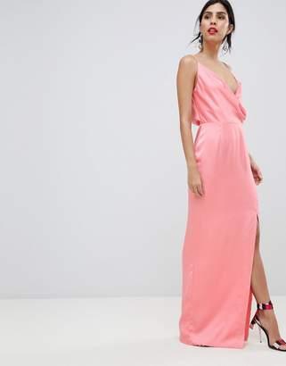 Keepsake Strappy Gown With Leg Split
