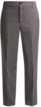 Golden Goose Straight Leg Cotton Chino Trousers - Womens - Dark Grey
