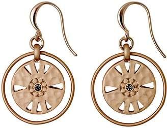 Pilgrim Women's Earrings Matte Gold Plated Crystal Round Cut – 211724113