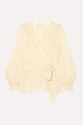 Forte Forte forte_forte - Silk-crepon Wrap Blouse - Cream