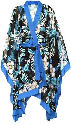 Diane von Furstenberg Floral cotton and silk kimono jacket