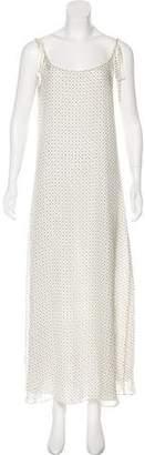 Chloe Sevigny for Opening Ceremony Sleeveless Silk Maxi Dress