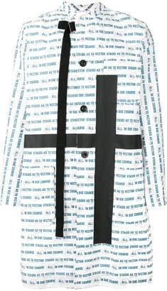 Sacai vector print cross coat