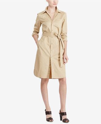 Lauren Ralph Lauren Twill Button-Up Shirtdress $125 thestylecure.com