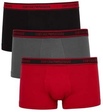 Emporio Armani Stretch-cotton Boxer Briefs - Set Of Three