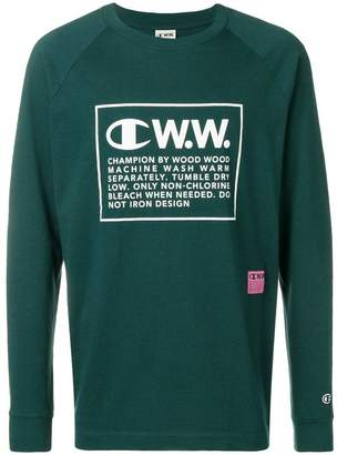 Wood Wood Champion X logo long sleeve T-shirt