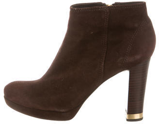 Tory BurchTory Burch Suede Round-Toe Ankle Boots