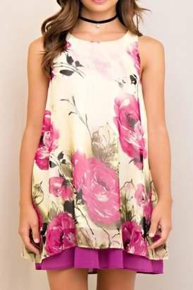 Entro Floral Contrast Dress