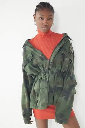 Urban Renewal Vintage Cinched Camo Jacket